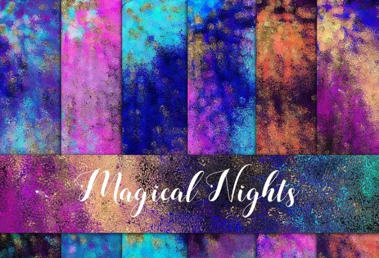 Magical Night Paper Backgrunds