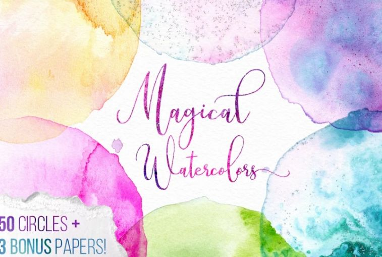 Magical Watercolor Texture Pack