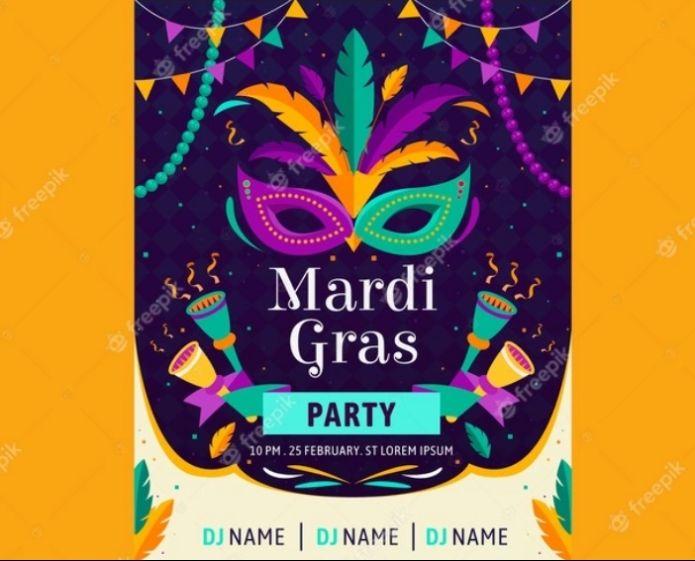Mardi Gras Poster Flyer