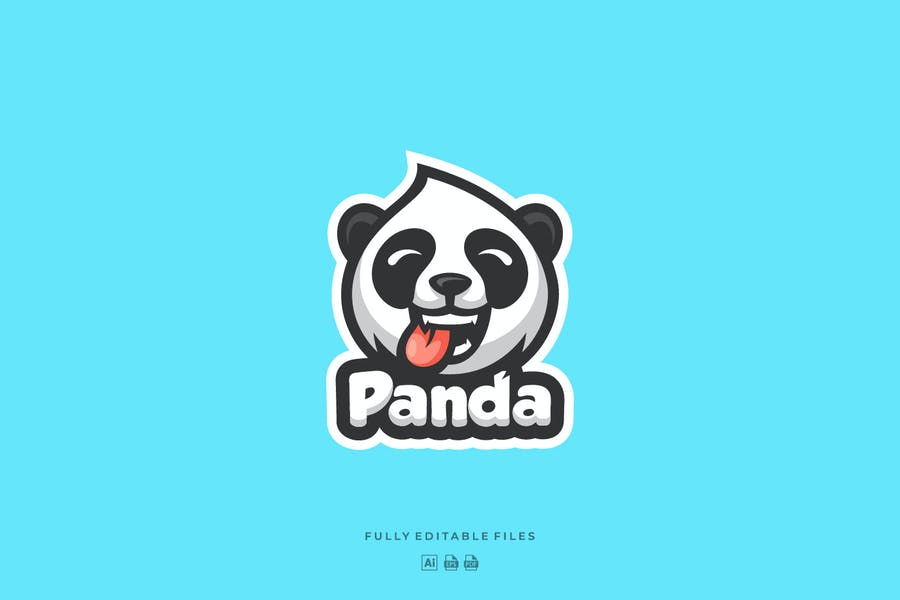 Mascot Style panda Logotype
