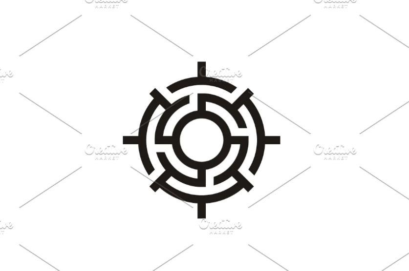Maze Style Target Logo Identity