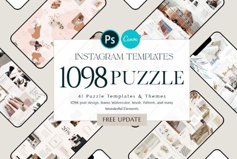 Mega Instagram Puzzle Templates