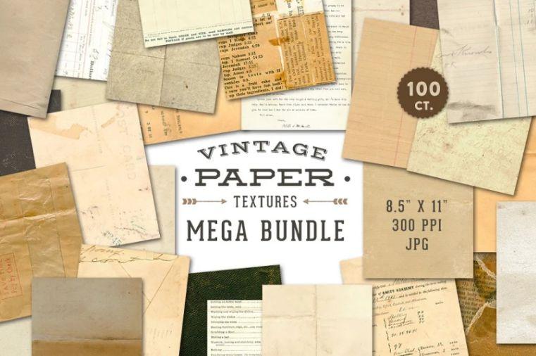 Mega Vintage Paper Texture Bundle