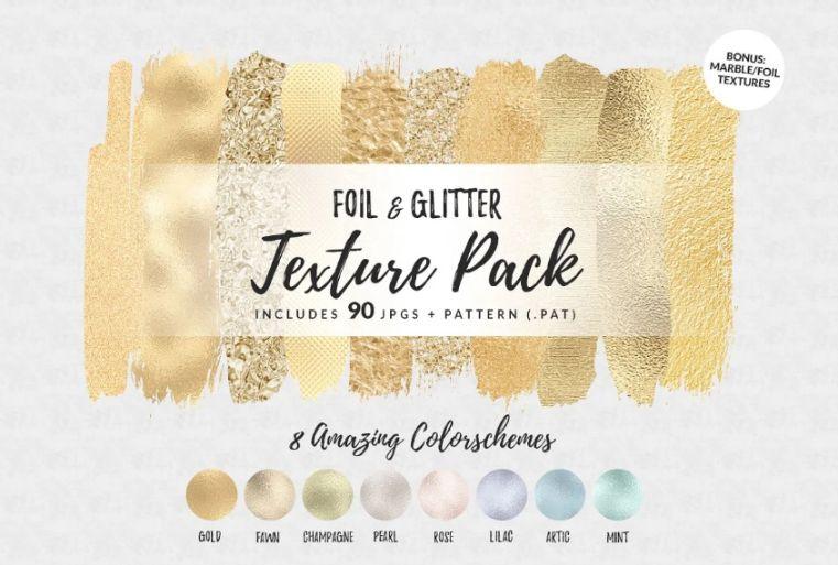 Metallic Foil and Glitter textures