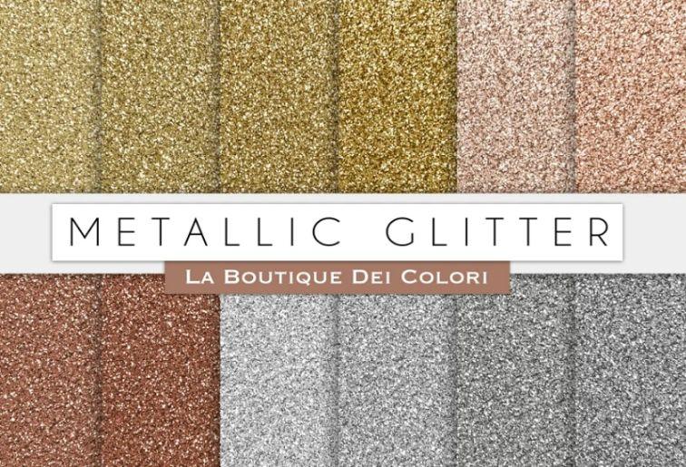 Metallic Glitter Backgrounds Design