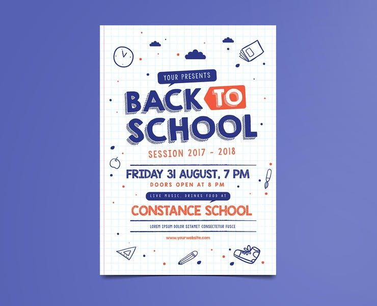 21+ Back to School Flyer Template PSD Downloads