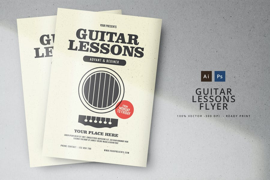 Minimal Music Lessons Flyers