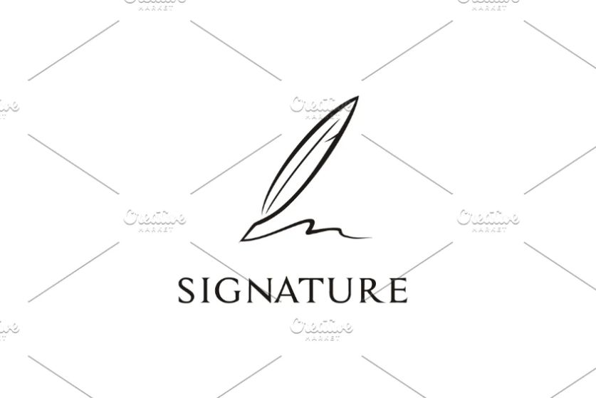 Minimal Quill Logo Template