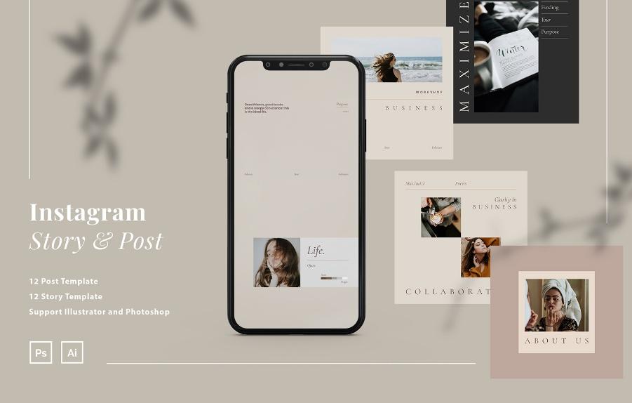 Minimal Social Media Post Templates
