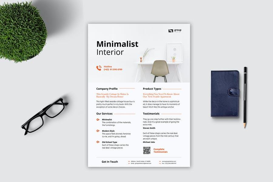 Minimalist interior Flyer Templates