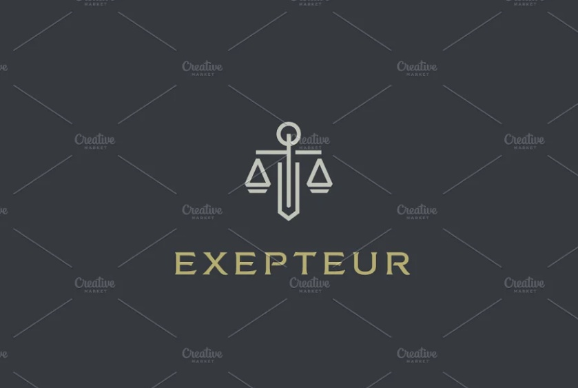 Minnimal Lawyer Logo Design Idea