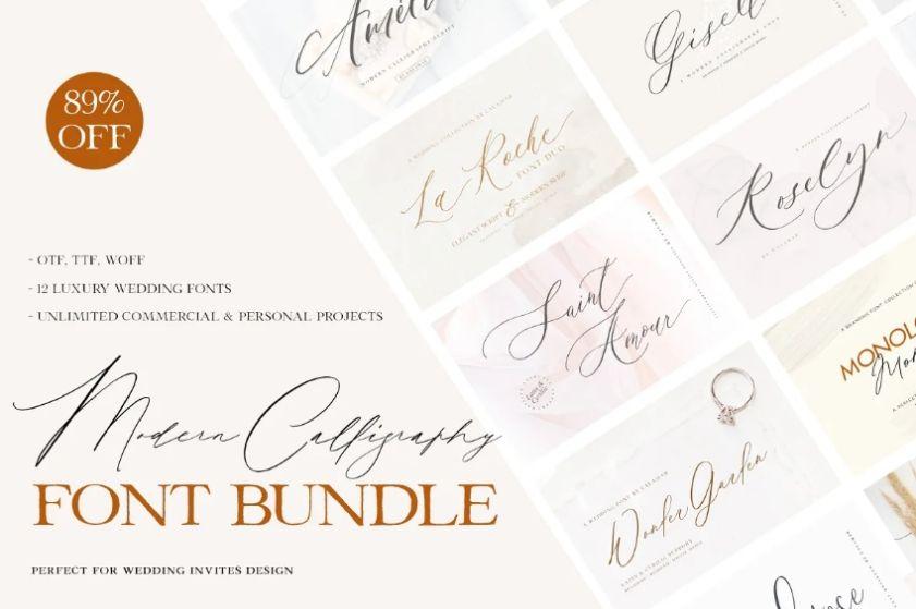 Modern Calligraphy Fonts Bundle