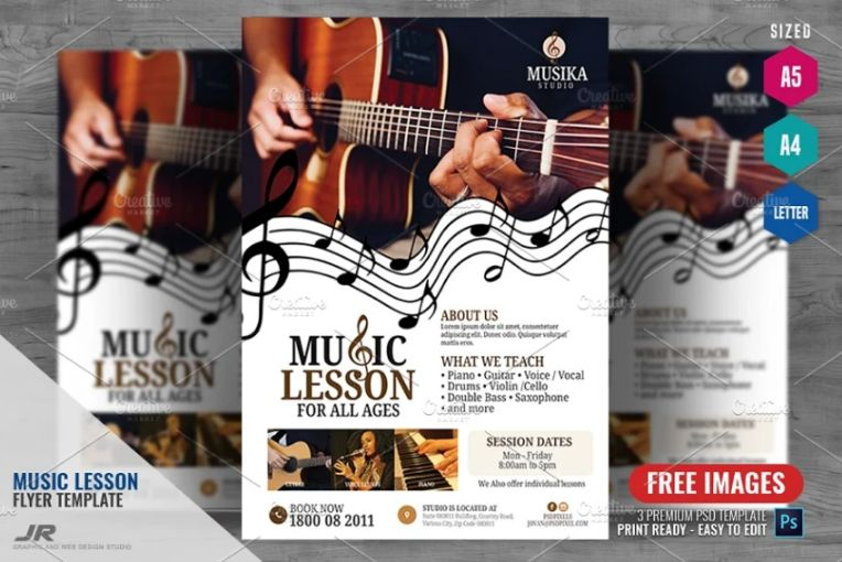 Music Tutorial Services Flyers