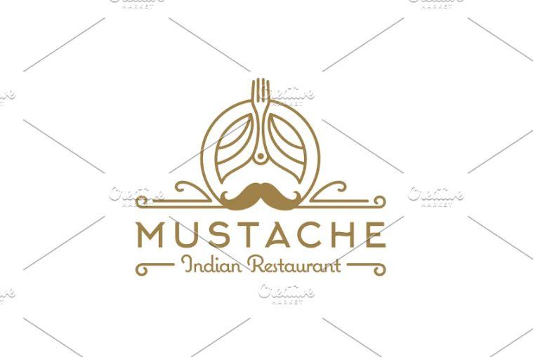 Mustache and Fork Identity Design