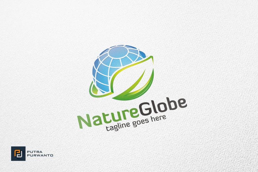 Natural Globe Logo Identity Design