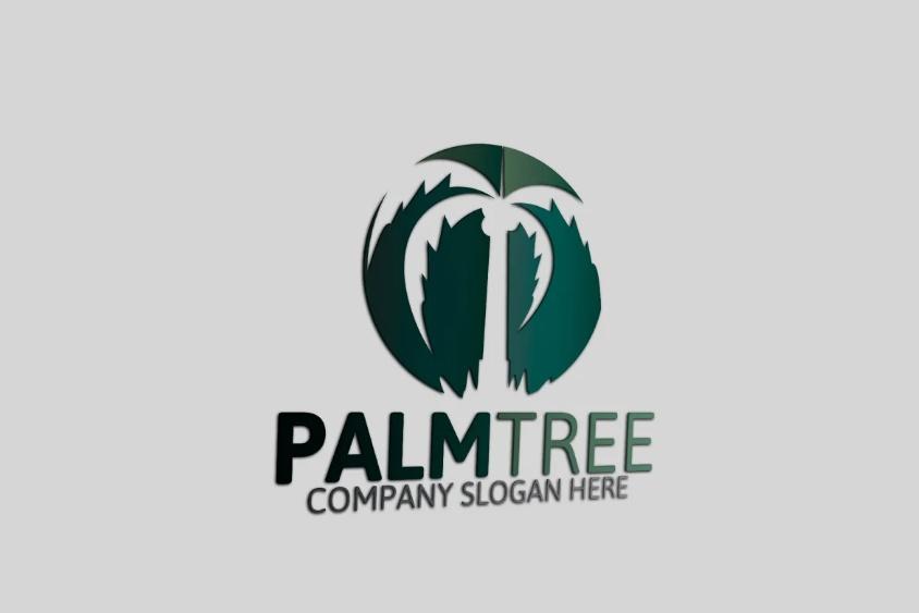 Negative Space Tree Logo