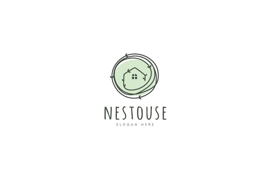 Nested House Logotype