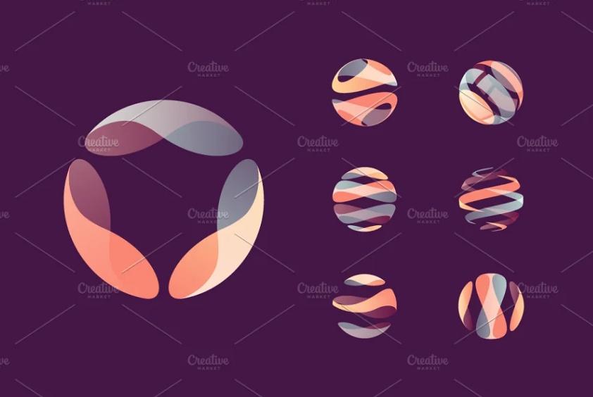 Network Style Globe Logo Set