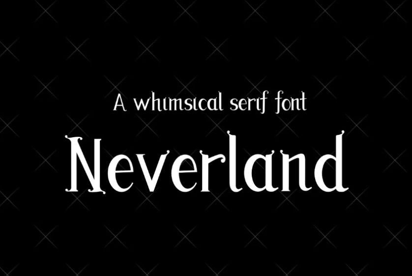 Neverland Style Fonts
