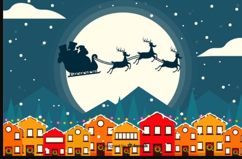 Night Sky Santa Background