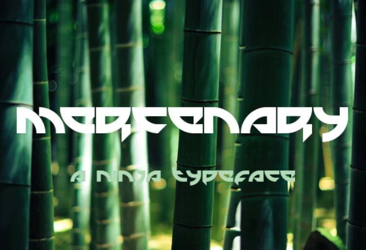 Ninja Assasin Style Typeface