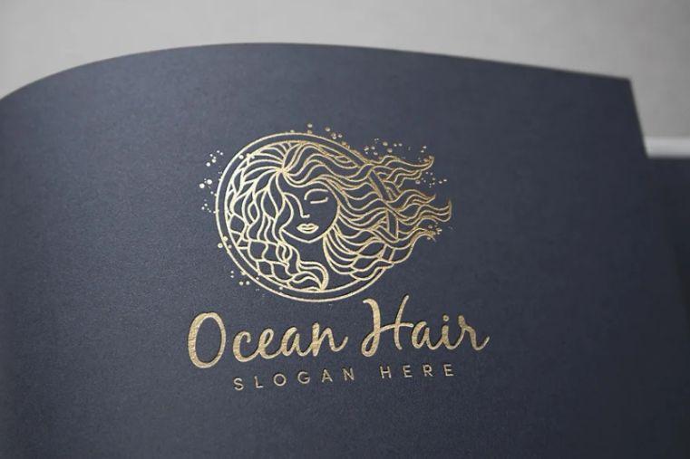 Ocean Hair Logo Design