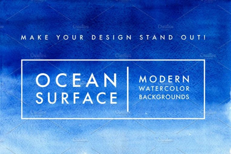Ocean Surface Watercolor Texture