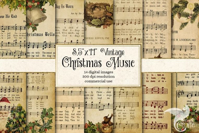 Old Christmas Music Backgrounds