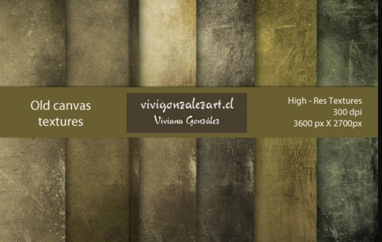 Old High Resolution Canvas Textures