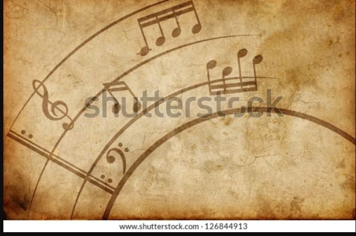 Old Music Note Texture