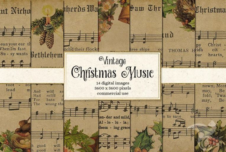 Christmas music textures