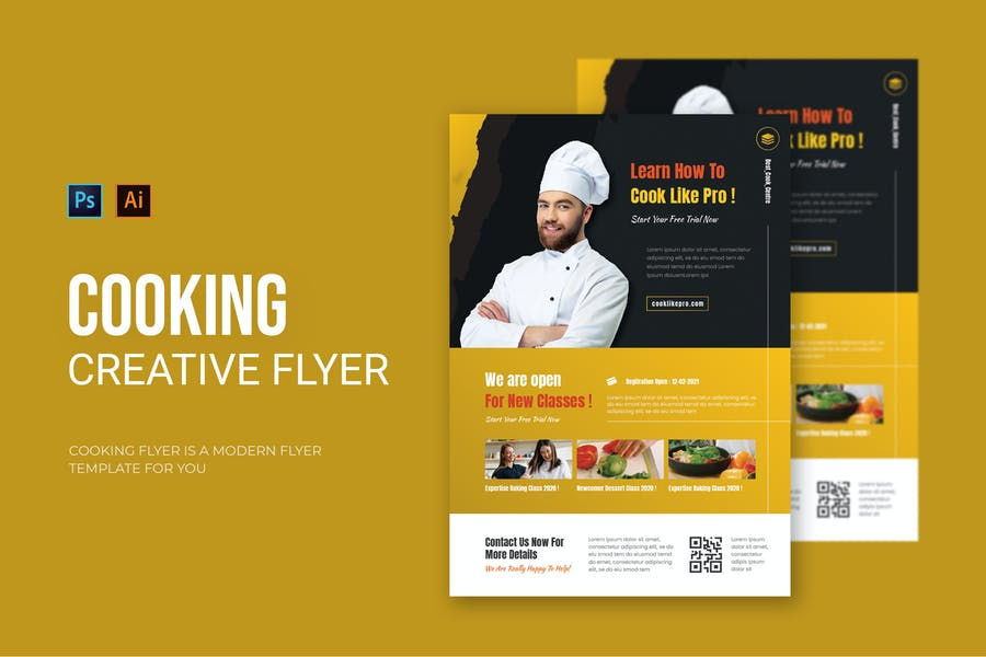 One Page Cooking Flyer Template
