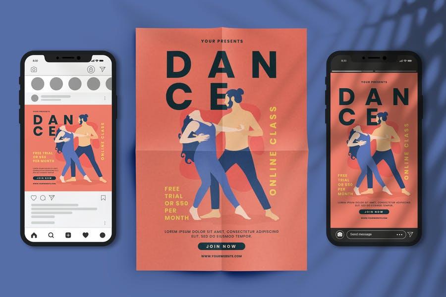 Online Dance Studio Promotional Set