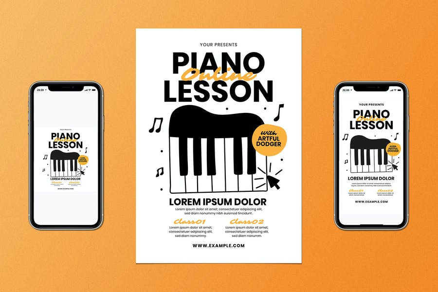 Online Piano Lessons Set