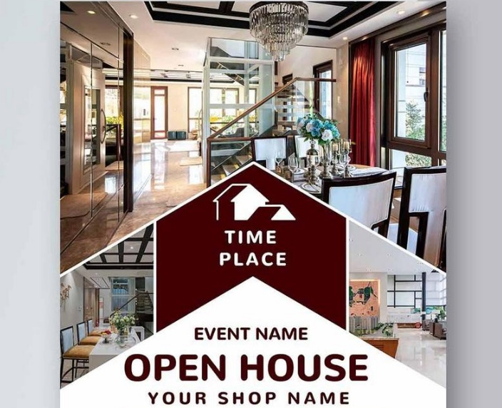 Open House Leaflet Template