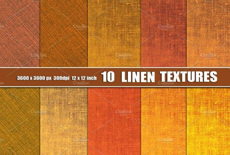 Orange Linen Textures Design