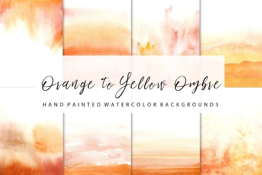 Orange Ombre Background Design