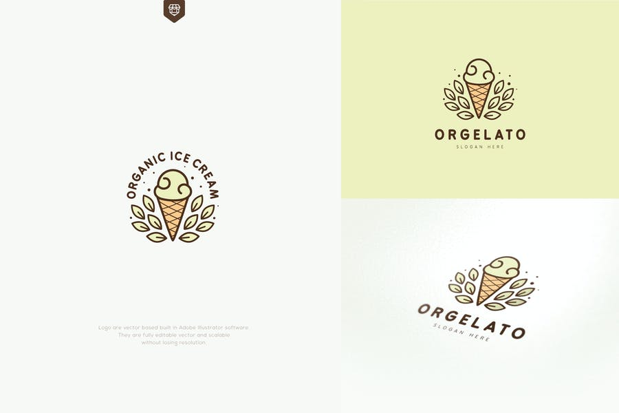 Organic Ice Cream Logo