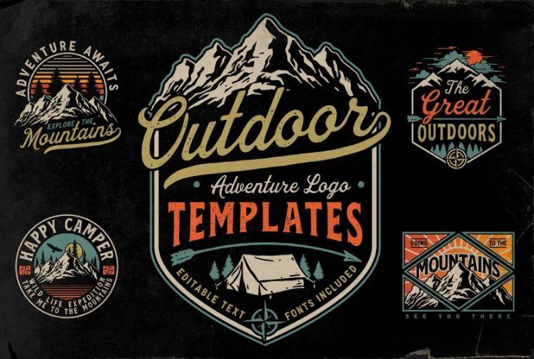 Outdoor Adventure Logo Bundle