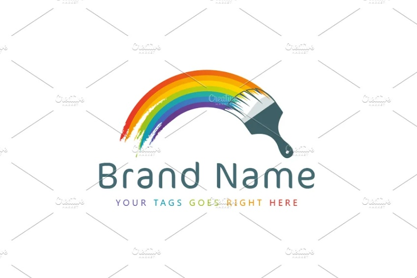 Painted Rainbow Logotype