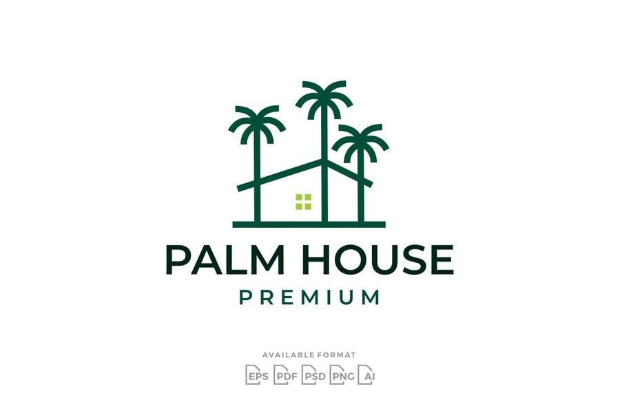 Palm House Logo Design