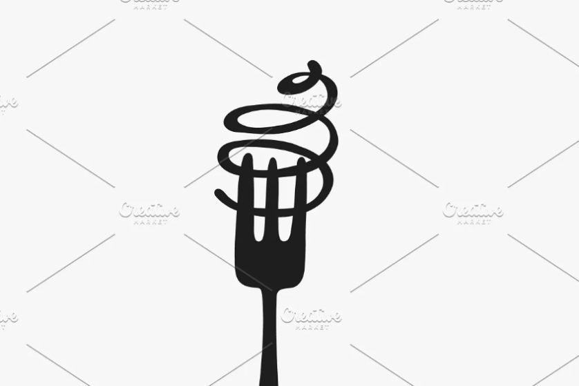 Pasta and Fork Logo Design