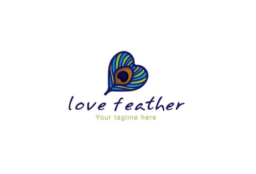 Peacock Bird Quill Logo Design
