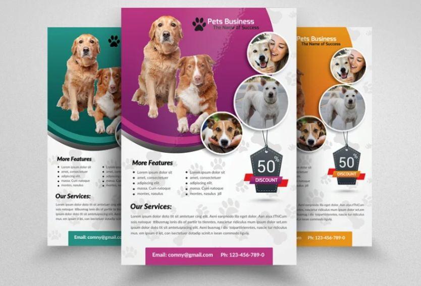 Pet Business Flyer Template