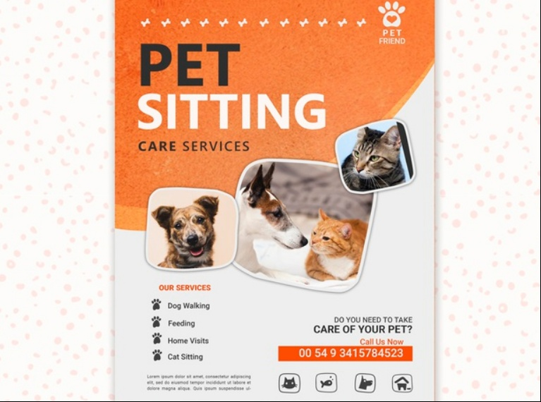 Pet Sitting Care Flyer