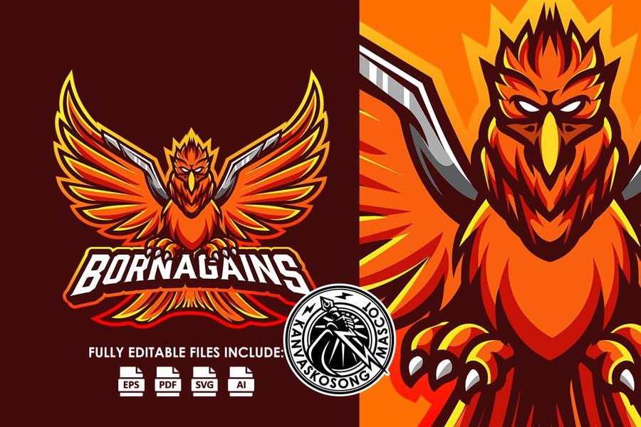 Phoenix E Sport Logo Template