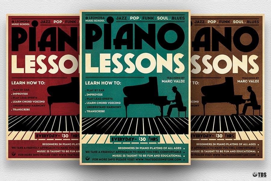 Piano Lessons Flyer Design
