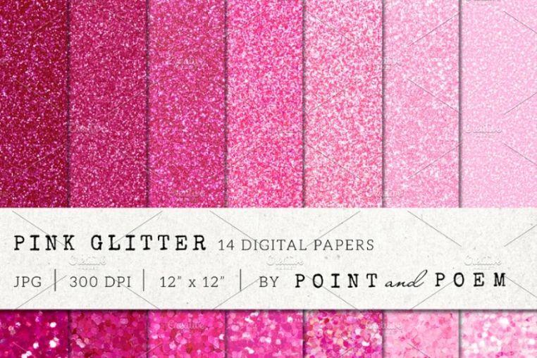Pink Glitter Digital Backgrounds