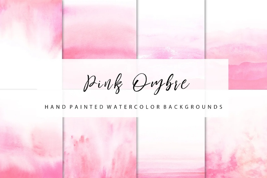 Pink Ombre Bacjground Design