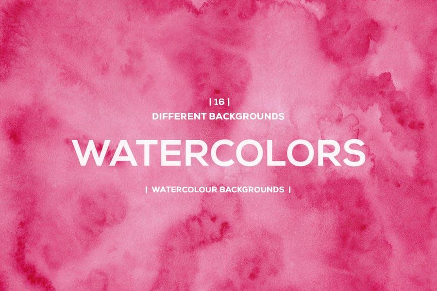 Pink Unique Watercolor Wallpapers